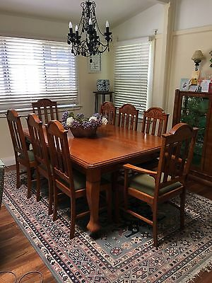 Edwardian Dining Table and 8 Chairs