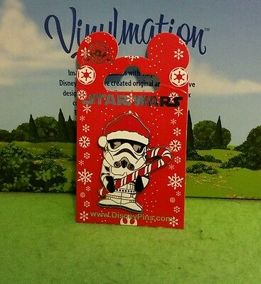 Disney Pin New on Card Star Wars Christmas Stormtrooper Candy Cane