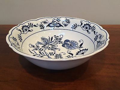 "Blue Danube BLUE ONION Japan 9"" Round Vegetable Bowl"