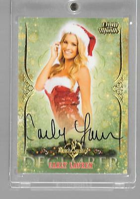 """2015 Benchwarmer Card Of The Month """"devember"""" Carly Lauren Auto,autograph"""