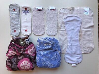 Modern cloth nappies and inserts, baby beehinds, cushie tushies, itti, bambooty
