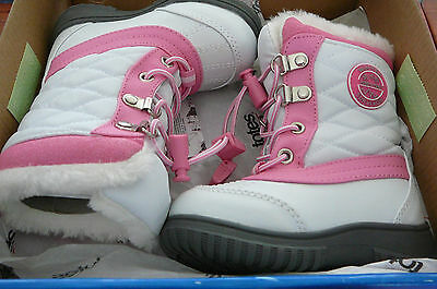 New Girls Totes Pink / White Snow Boots -Jodi  Size 5