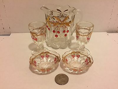 Lot of Toy Children glassware teaset miniature  ............... FREE SHIPPING