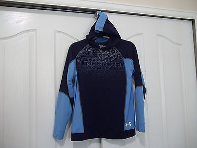 Under Armour Heatgear Pullover Blue Hoodie Youth Xl Nice!