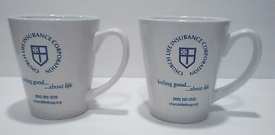 Church Life Insurance Corporation Mug Cup Episcopal Church Free Ship Lot of 2