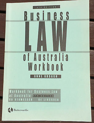 Business Law of Australia: Workbook to 9th Edition by A. Ardagh (Book, 1998)