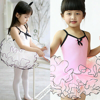 Ballet Girl Kid Baby Dress Tutus Leotard Dancewear Ballerina Costume Skirt 2-12Y