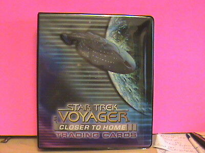 ~ SkyBox Star Trek Voyager Closer to Home  Collectors Binder  Base & Chase Cards