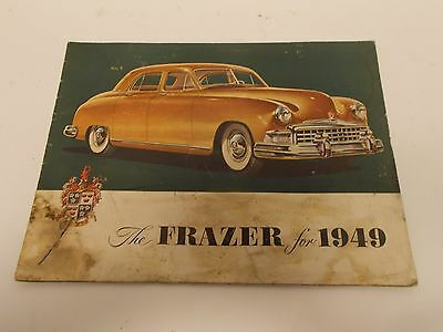 "Vintage 1949 Frazer Brochure/Catalog in Color & 1954 Kaiser ""Teaser"" Mailer"