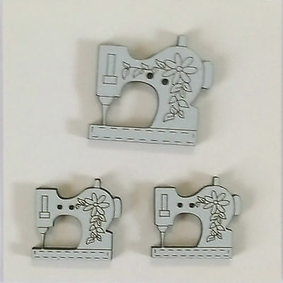 VIZZY Wooden Buttons ~ Quilt Embellishment ~ Sewing Machines