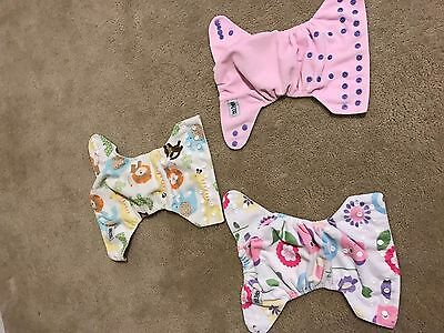 MG Baby cloth diapers, lot of 3, pocket