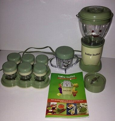 EUC Baby Bullet Complete Set Blender, Blade, 7 Containers, Manual Recipes