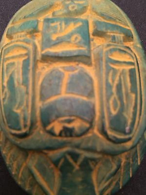 Large RARE ANCIENT EGYPTIAN SCARAB - 600 BC