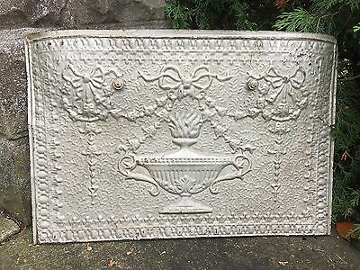 Antique Victorian Pressed TinFireplace Insert Cover Surround Panel Architectural