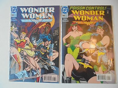 Wonder Woman (1987) #93 and #94 NM Artemis Appearance