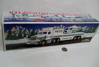 1995 Hess Toy Truck And Helicopter Lights In Box