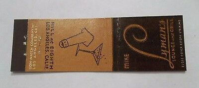Mike Lymans Lounge & Grill Midget Los Angeles Ca Matchbook Cover