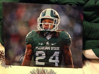 Gerald Holmes Autographed Michigan State Football 8x10 Photo COA