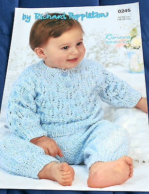 Baby Lacy Sweater & Leggings knitting pattern 8 ply DK worsted yarn
