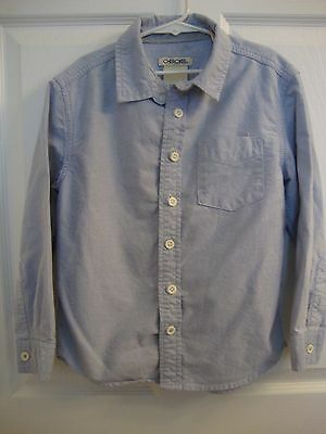 Boys Cherokee Blue Long Sleeve Button Down Shirt - Size s/p 6/7