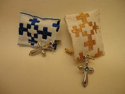 Protection Charm ΧΑΙΜΑΛΙ Greek Orthodox & Catholic Religious Pillow & Holy Cross