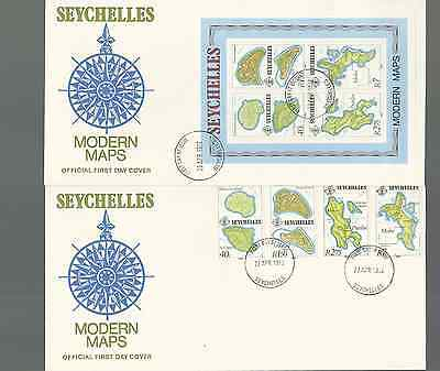 SEYCHELLES 1982 OFFICIAL 2 FDC's & MNH SET & S/S SC 487-90a FREE WORLD SHIPPING