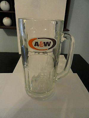 A & W Glass Root Beer Mug-6-inch height