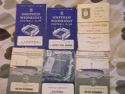 Collection Of Sheffield Wenesday Football Programmes,1957 Onwards