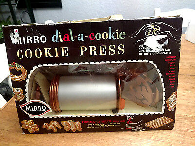 Vintage, New Old Stock Mirro Dial-A-Cookie Cookie Press 3 Plates, 12 Shapes,