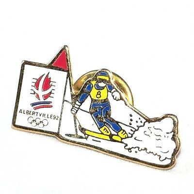 pin's / pins JO Jeux Olympiques 1992 Albertville Skieur