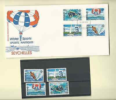 Seychelles 1984 Official Fdc & Mnh Set Sc 5551-54 Water Sports