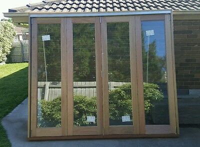 Timber bifold door 4 Right 2410 x 2790 twin glaze price negotiable