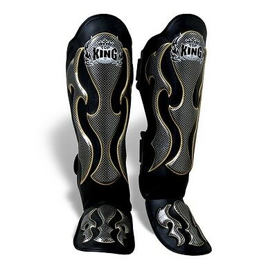 TOP KING Shin guards EMPOWER TKSGEM Muay Thai Kick Boxing MMA Sparring AUS STOCK