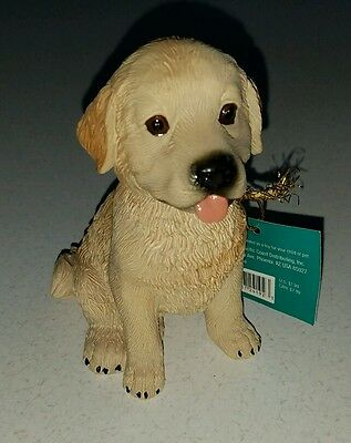 Top Paw Golden Retriever Bobblehead Figurine Statue - Realistic Detail Puppy New