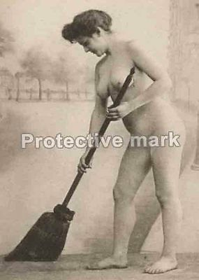 bared cleaner NUDE ART Erotic old PHOTO REPRINT