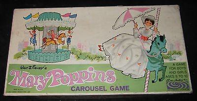 Vtg 1964 Walt Disney's Mary Poppins Carousel Game Parker Brothers Complete
