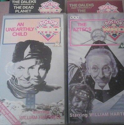 DOCTOR WHO - First Doctor (William Hartnell) VHS tape bundle - 3 stories