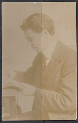 Vintage Postcard Real Photo Max Maxwell Actor 1911 Free Post Aus