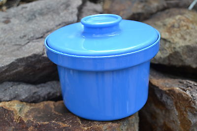 Vintage Retro Decor Blue Margarine / Butter Container Made In Australia Cool