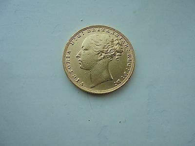 1878 Queen Victoria Young Head Full Gold Sovereign  London Mint