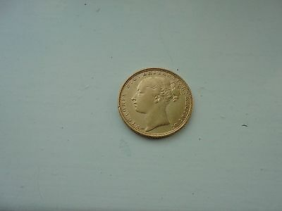 1884 Queen Victoria Young Head Full Gold Sovereign  London Mint