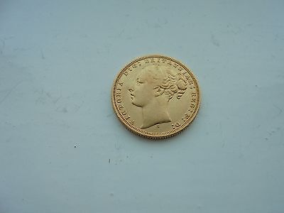 1871 Queen Victoria Young Head Full Gold Sovereign  Sydney Mint