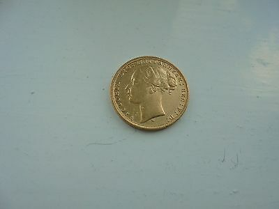 1880 Queen Victoria Young Head Full Gold Sovereign  Melbourne Mint