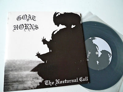 """GOAT HORNS The Nocturnal Call 7"""" Aphelion AP011 Limited 500 BLACK METAL EX/NM"""