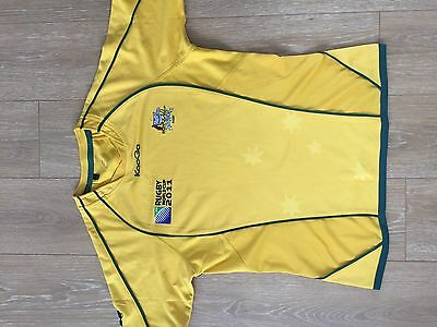 Kooga Mens Authentic Rugby World Cup 2011 ARU Bledisloe Wallabies Jersey Sz L