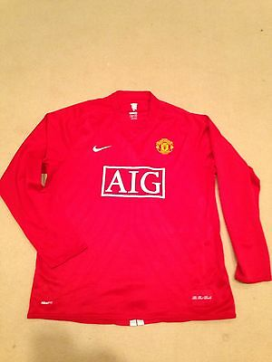 Manchester United Home Shirt 2007/09 Adults Xl Extra Large Long Sleeve Nike