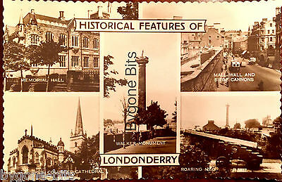 Historical Feature of Londonderry Postcard Derry Ireland Memorial Hall