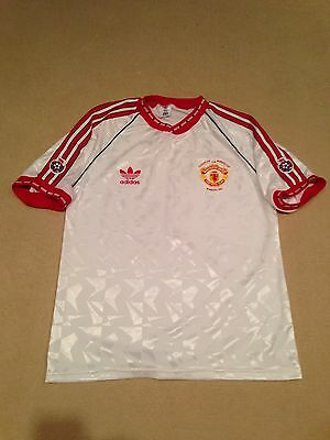 Manchester United 1991 Cup Winners Cup Shirt Adults Large (L) Vintage Adidas