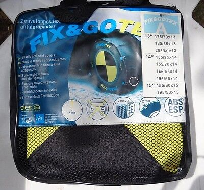 CHAINE CHAUSSETTE A NEIGE TEXTILE FIX AND GO  NEUVES taille A