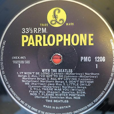 ☆ 1963 The Beatles – With The Beatles - First pressing yellow label PMC1206